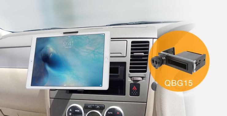 QBA59 タブレットを設置(QBG15) 別売スタンドを組合わせてタブレットを固定