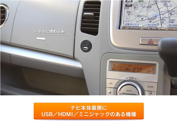 USB9 埋め込みできる! USB/HDMIポートが埋め込んで使用できるようになっているので車のパネルにも埋め込んで使用できます。
