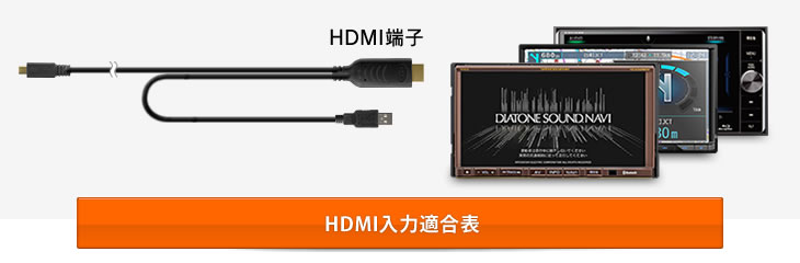 HDMI入力端子を備えたナビやオーディオに最適です。