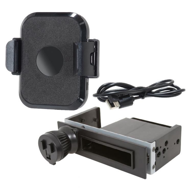 BSA123 1DINスペーススタンドとスマホホルダー(ワイヤレス充電付)のセット