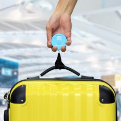 手荷物の重さを量る 旅行用携帯に便利なコンパクトサイズのトラベルスケール オーバーチャージも未然に防げる|TS30
